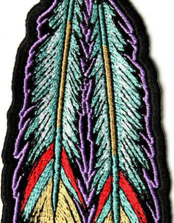 tribal-feathers-biker-patch